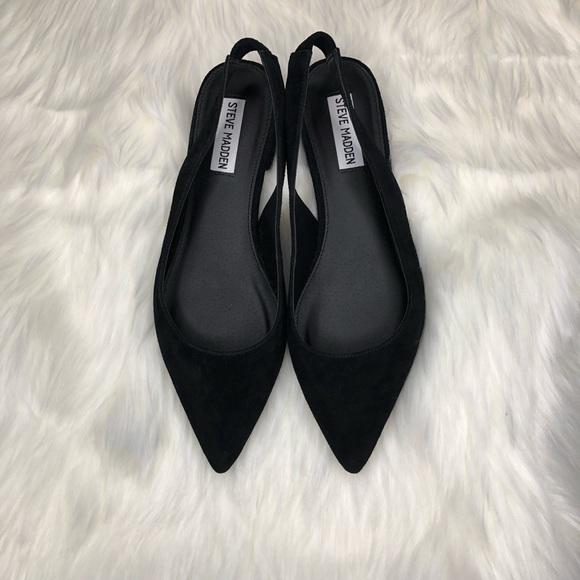 371d40aa74c Steve Madden Envi Balet black suede Flats size 8